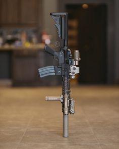 gun-porn -— benchau: After adding the tano this build is. Weapons Guns, Airsoft Guns, Guns And Ammo, Steampunk Weapons, Outdoor Survival Gear, Battle Rifle, Firearms, Shotguns, Custom Guns