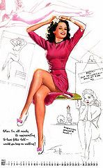 I Love My Calendar Girl *** Vintage Pin Up Art Only *** | Flickr - Photo Sharing!