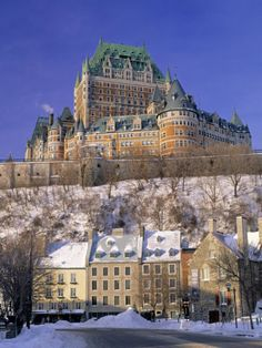 Photographic Print: Chateau Frontenac Hotel, Quebec City Poster by Walter Bibikow : Chateau Frontenac Quebec, Oh The Places You'll Go, Places Ive Been, Places To Visit, Ottawa, Torre Cn, Le Petit Champlain, Hotel Secrets, Paisajes