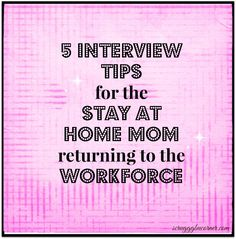 Stay At Home Mom Resume Resume Tips For Stayathome Moms And Dads  Dads