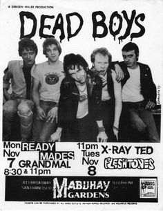 Dead Boys at Mabuhay Gardens gig flyer
