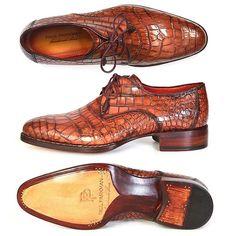 Paul Parkman Mens Goodyear Welted Genuine Crocodile Shoes #paulparkman #paulparkmanshoes #genuinecrocodile #crocodileshoes #luxuryshoes #luxuryshoesformen #handmadeshoes #bespokeshoes #handmadeshoes