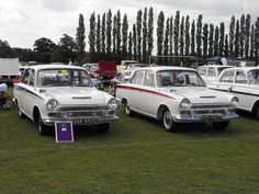 https://flic.kr/p/9EkTRh | Ford Cortina Mk.1's - GGK 450C & FCG 798D | Seen at the Luton Festival of Transport are two very fine Ford Cortina Sport saloons dating from 1965-6.  What superb machines, and in 'to die for' colours, beautiful!!