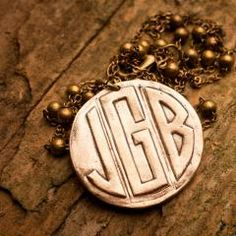 Say My Name Initial Necklace on Bourbon & Boots