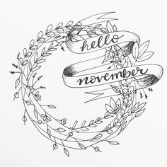 I can't believe it is already November! Im a little late on telling it hello  .#thxgivinglettering #dndchallenge . . . . . . #wreath #floral #floralwreath #banner #november #wheat #leaves #calligraphy #moderncalligraphy #handlettering #brushlettering #fauxligraphy #script #jennscript #type #typegang #handlettered #instagood #art #yeahthatgreenville #thedailytype #typography #designlovers #font #doodle #drawing #blackandwhite #novemberletteringchallenge #fauxligraphy