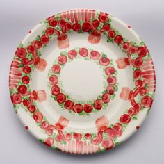 ursule Plates, Tableware, Design, Red, Green, Unique, Tablewares, Licence Plates, Dishes