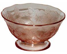 Macbeth Evans Dogwood Pink Depression Glass Sherbet #MacbethEvans