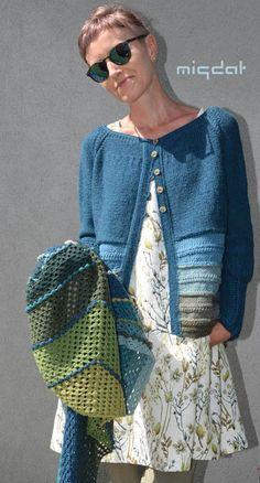 Karisma i towarzystwo od Migdał Cardigan Design, Knit Cardigan Pattern, Sweater Knitting Patterns, Knitting Designs, Knit Patterns, Hand Knitting, Knitwear Fashion, Crochet Fashion, Crochet Woman