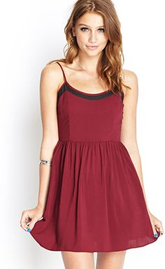 FOREVER 21 Mesh-Insert Cami Dress