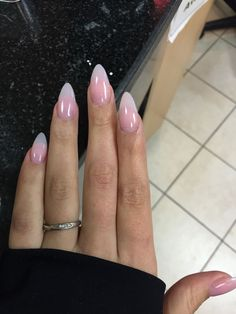 Natural almond shaped nails....