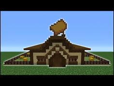 Minecraft Tutorial: How To Make A Horse Stables Minecraft Farmen, Minecraft Server, Minecraft Shops, Minecraft Survival, Minecraft Tutorial, Minecraft Creations, Minecraft Crafts, Youtube Minecraft, Minecraft Construction