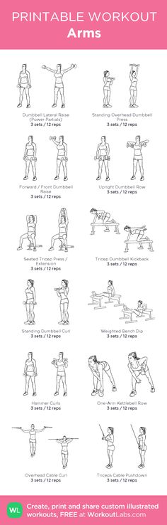 Arms: my custom printable workout by @WorkoutLabs