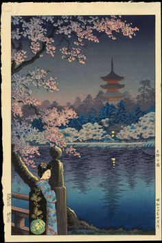 """""""Ueno Park"""" by Koitsu, Tsuchiya (1870-1949)"""