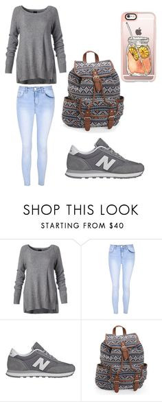 """A autumn boring day"" by maramira2005 ❤ liked on Polyvore featuring Glamorous, New Balance, Aéropostale and Casetify"