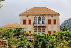 Douma, North of Lebanon Architecture, Village Houses, House Viewing, Lebanon, Traditional Architecture, Islamic Architecture, Traditional House, Old Houses, Mountain Homes