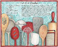 Lang March 2014: American Kitchen, utensilios de cocina, decoupage, lámina, imprimible,