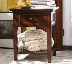 Hudson Bedside Table #potterybarn,  it would be pretty as an end table in the living room also