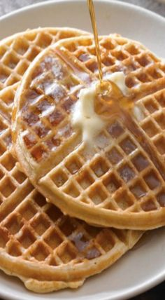 old fashioned buttermilk waffles