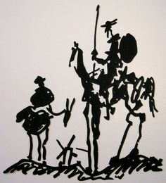 """""""See that your grooms care for my fleet-footed Rocinante, a horse of courage, sobriety, and chastity; the flower and glory of horseflesh.""""    Don Quixote, by Miguel de Cervantes  Illustration by Pablo Picasso"""