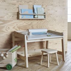 Kid workspace | ☞ See all the new pieces at http://petitandsmall.com/ikea-new-collection-for-kids-flisat/