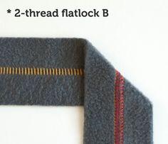 Serger Stitches: 2-thread flatlock