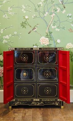This striking console with an exotic design is from Seven Palace. #luxeLA
