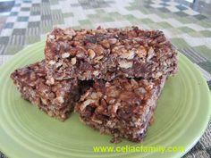 Cashew Cherry Chocolate Energy Snack Bars -- gluten-free, dairy-free
