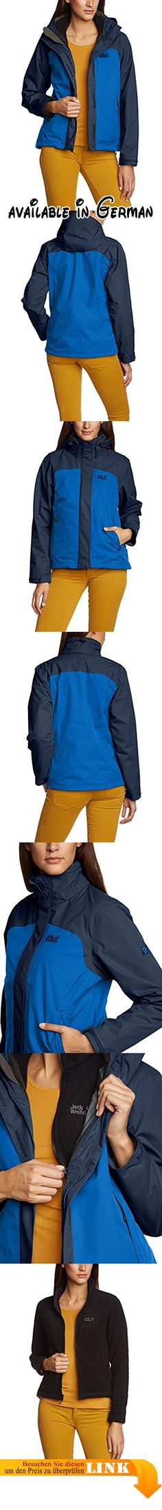Jack Wolfskin Damen 3in1-Jacke Montero Jacket Women, Classic Blue, XL, 1106461-1127005. 3-in-1-Wanderjacke. wasserdicht, winddicht. atmungsaktiv. sehr robust. kurzer Schnitt #Sports #SPORTING_GOODS