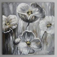peinture š€ l'huile fleur abstraite moderne main toile avec cadre šŠtiršŠ peint