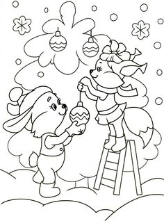 новогодние раскраски для детей 2014 - Поиск в Google
