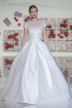 Vestidos de novia corte princesa 2017: 65 diseños extraordinarios que no querrás dejar escapar Image: 59