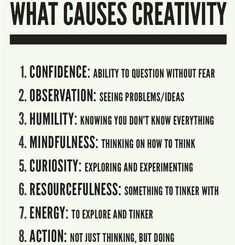 What helps you be more creative