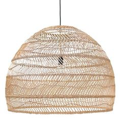 Hand woven wicker hanging lamp by HK Living, natural Scandinavian Nordic contemporary XL large design available in USA ready to ship in America and CA. XL oversized pendant light with airy feel. Perfect for dining room or eat in kitchen. Ceiling Pendant, Pendant Lamp, Pendant Lighting, Ceiling Lights, Ceiling Shades, Wicker Table, Wicker Furniture, Wicker Dresser, Wicker Couch