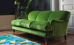 Sofa Workshop Lady May three-seater sofa in Dusky Grass velvet