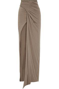 Rick Owens Lilies Draped stretch-jersey maxi skirt