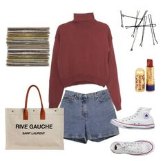 """""""Senza titolo #6"""" by francescaschiavo on Polyvore featuring moda, Wood Wood, Ann Taylor, Yves Saint Laurent e Converse"""