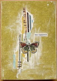 "Collage by Cynka cynkowepoletko. ""Without a doubt"" Paper Collage Art, Collage Art Mixed Media, Mixed Media Canvas, Paper Art, Canvas Paper, Paper Crafts, Diy Journal Books, Art Journals, Art Journal Inspiration"
