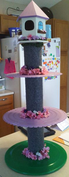 Tangled/Rapunzel Cupcake Tower by EmDisFavoriteThings on Etsy, $85.00