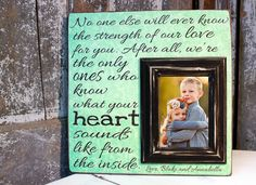 Baby Picture Frame Baby Frame Heart Beat by MadiKayDesigns on Etsy