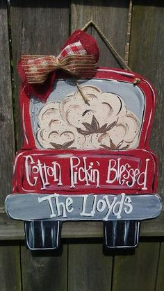 Check out this item in my Etsy shop https://www.etsy.com/listing/535113830/cotton-pickin-blessed-truck-door-hanger