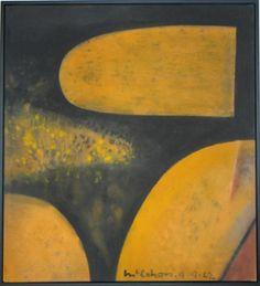 Colin McCahon Abstract Painters, Abstract Landscape, Landscape Paintings, Abstract Art, Landscapes, Art Frames, New Zealand Art, Nz Art, Artist Painting