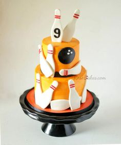 Orange Bowling Cake