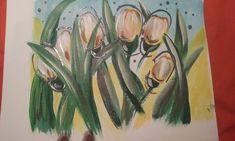 Acrilico tulipanes tecnica mixta