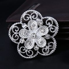 Find More Brooches Information about 40*40mm handmade Hollow flowers vintage brooch color rhinestone brooches for women diy Fashion Jewelry breastpin brooch pins,High Quality brooch scarf,China brooches and pins for dresses Suppliers, Cheap brooch clip from Playful beauty department store on Aliexpress.com