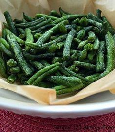 Oven Baked Crispy Green Beans