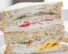 Traditional club sandwich with Serrano ham, tomato, hard-boiled egg and basil - . - Traditional club sandwich with Serrano ham, tomato, hard-boiled egg and basil – - # Club Sandwich Receta, Club Sandwich Recipes, Chicken Sandwich Recipes, Fried Chicken Sandwich, Grilled Sandwich, Cold Sandwiches, Panini Sandwiches, Sandwich Croque Monsieur, Pan Bagnat