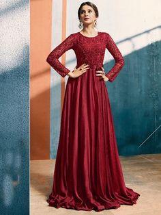 Indian Salwar Kameez Designer Pakistani Heavy Embroidered Ethnic Anarkali  Suit. Long Gown ... f1ec1e82f