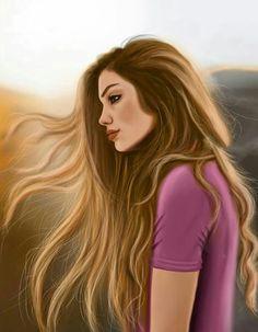 Perfeita 💕❤ Digital Art Girl, Digital Portrait, Sarra Art, Girly M, Cute Couple Art, Cute Girl Drawing, Girly Drawings, Cute Girl Wallpaper, Fashion Wall Art