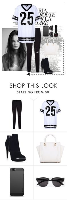 """""""BaW"""" by dannw ❤ liked on Polyvore featuring Frame, DKNY, Hervé Léger, Yves Saint Laurent and Beats by Dr. Dre"""
