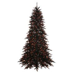 3-Pre-Lit-Black-Fir-Artificial-Halloween-Christmas-Tree-Orange-Lights